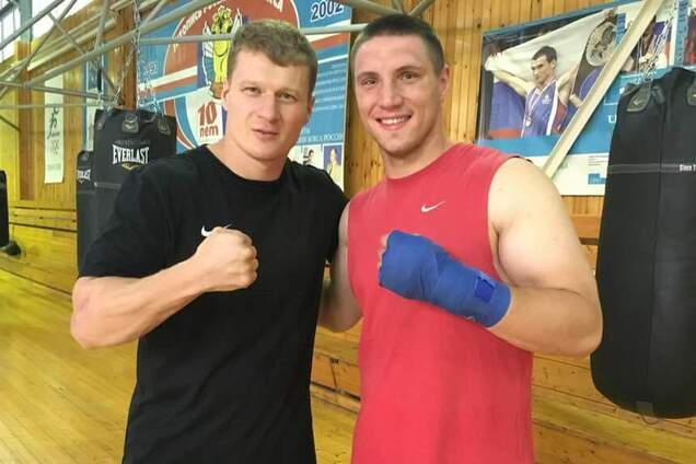 Владислав Сіренко (праворуч) разом із відомим російським боксером Олександром Повєткіним