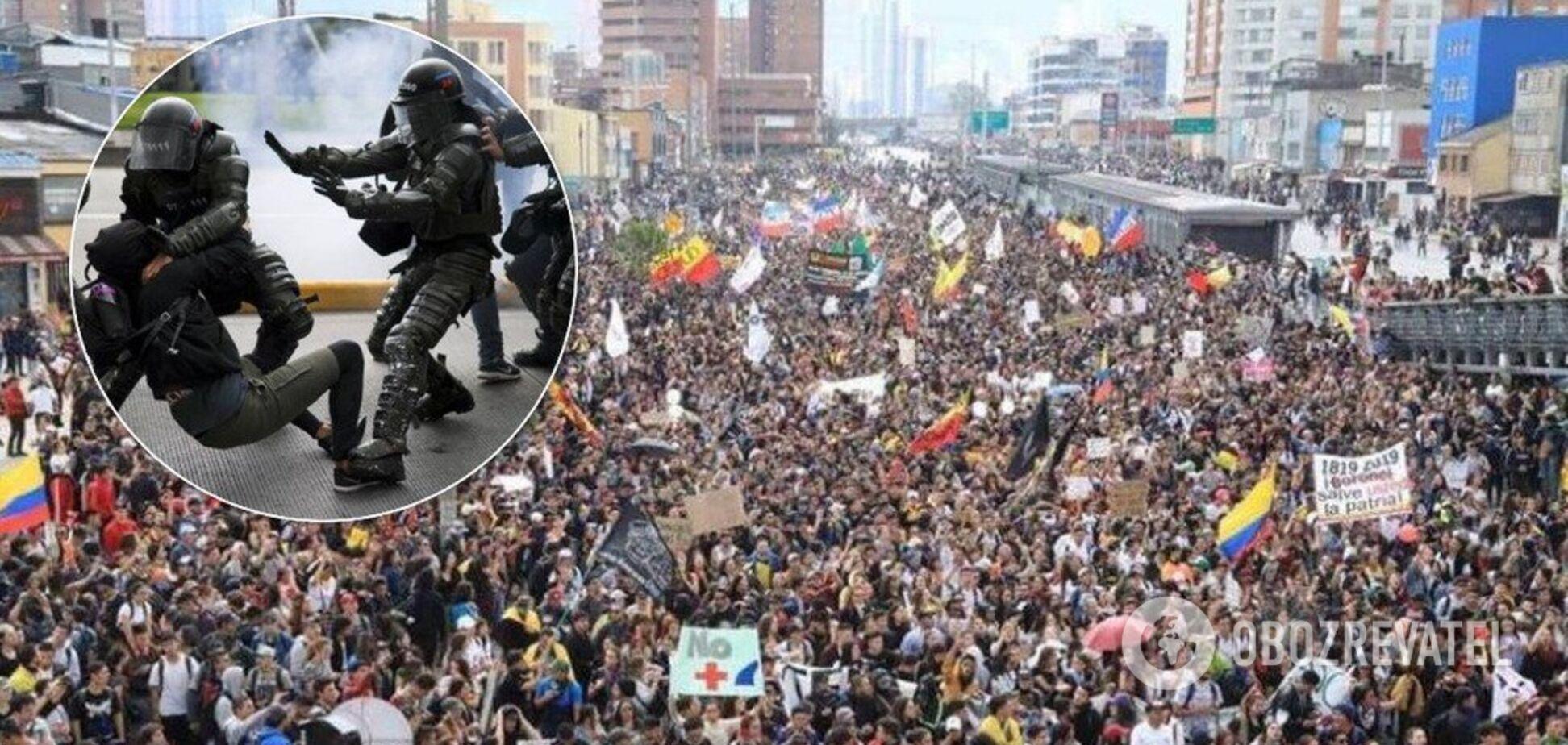 Колумбию накрыли миллионныепротесты