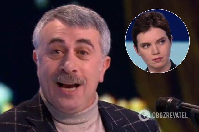 Комаровський накинувся на Соколову в прямому ефірі