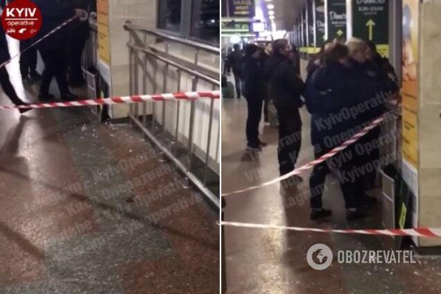 В Киеве на вокзале плитка разбила голову мужчине
