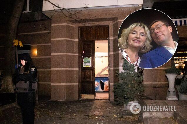 Дом в Киеве, в котором произошел взрыв/Юрий Луценко и его жена Ирина