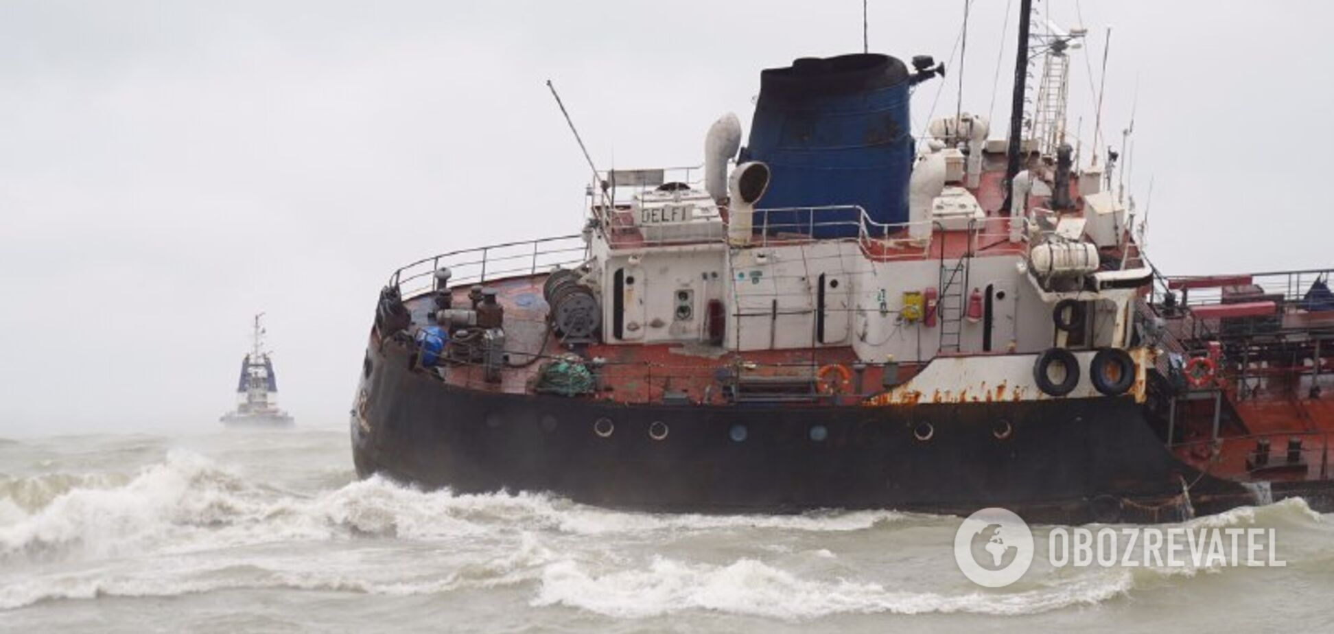 У берегов Одессы затонул танкер