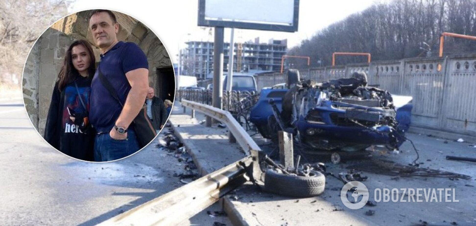 ДТП с Porsche в Киеве и Владислава Евтягина с отцом. Источник: Коллаж