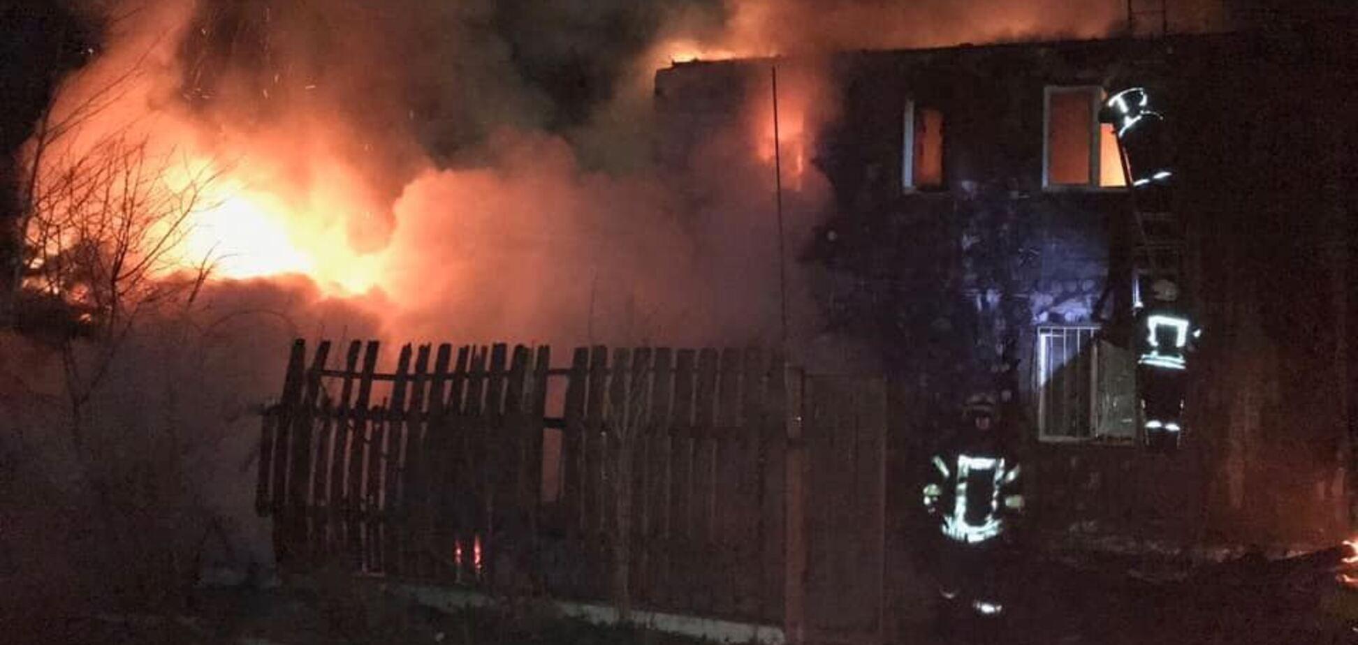У известного ветерана АТО полностью сгорел дом. Фото