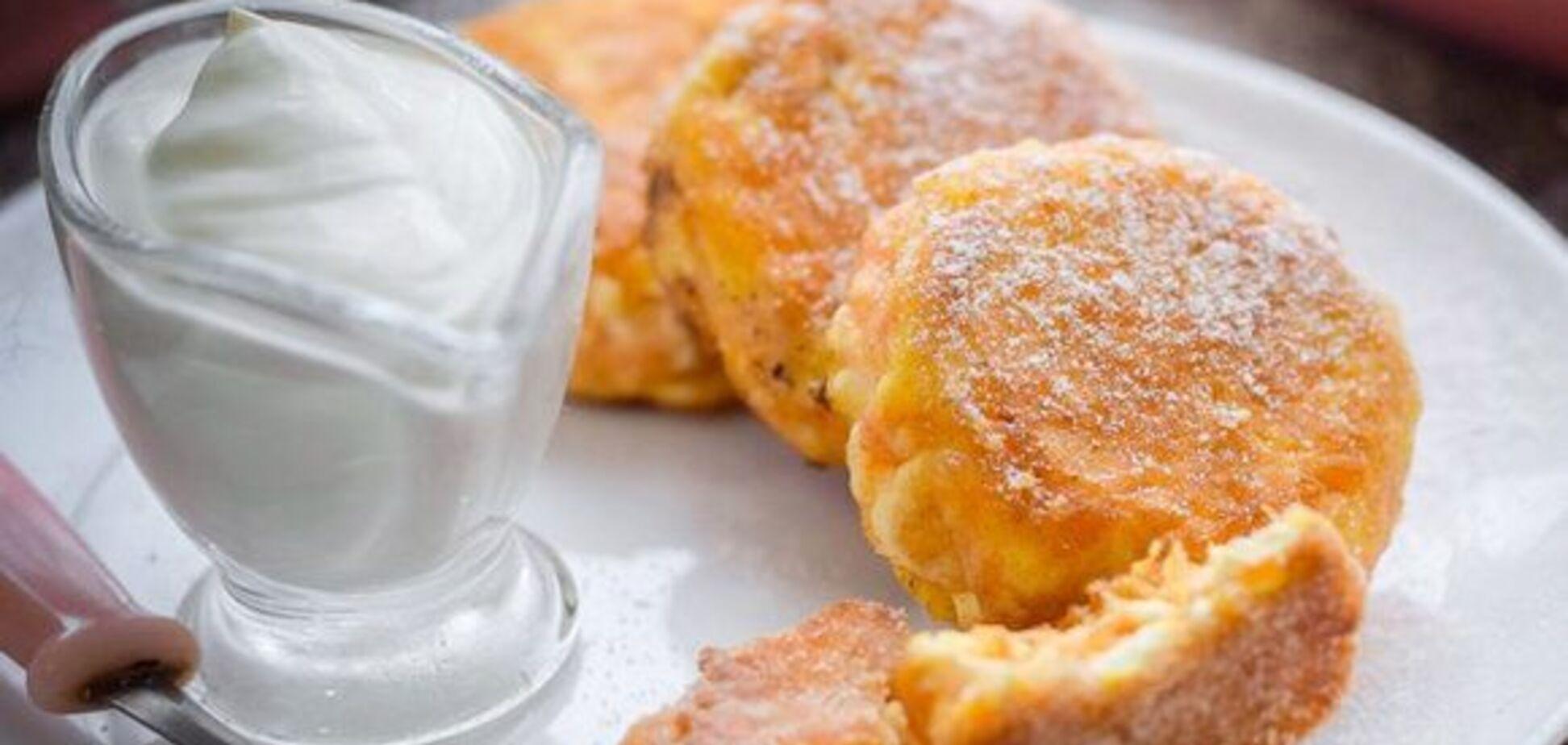 Рецепт фантастически вкусных сырников с тыквой
