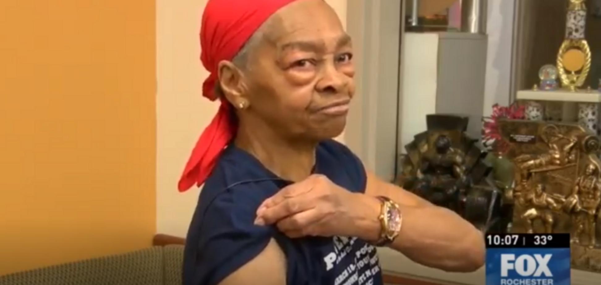 82-летняя бабушка-бодибилдер избила грабителя столом