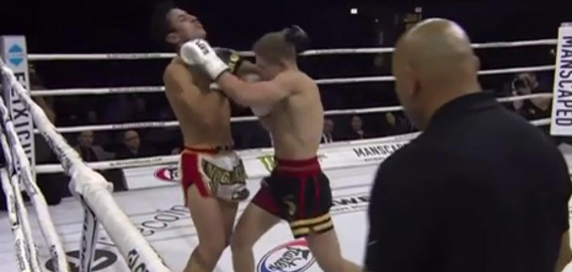 Відомий український кікбоксер брутально забив суперника, перемігши нокаутом