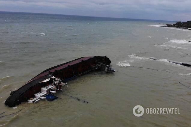 Крах танкера в Одесі