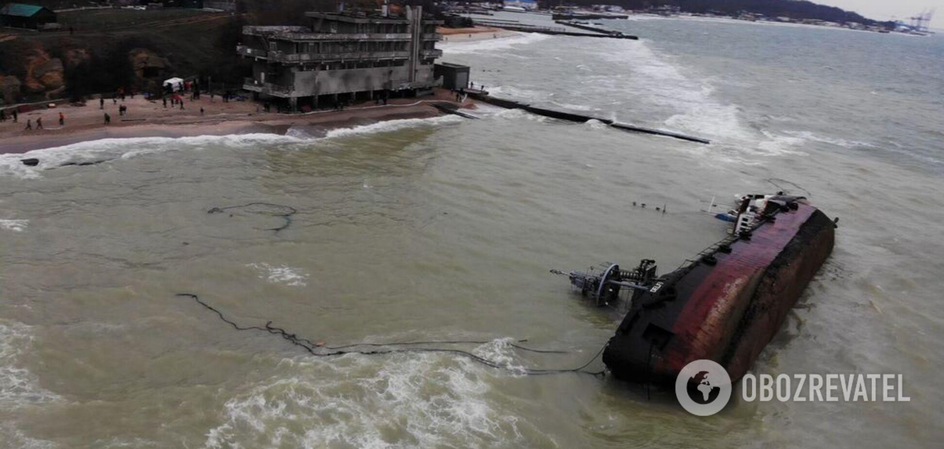 Крушение танкера в Одессе