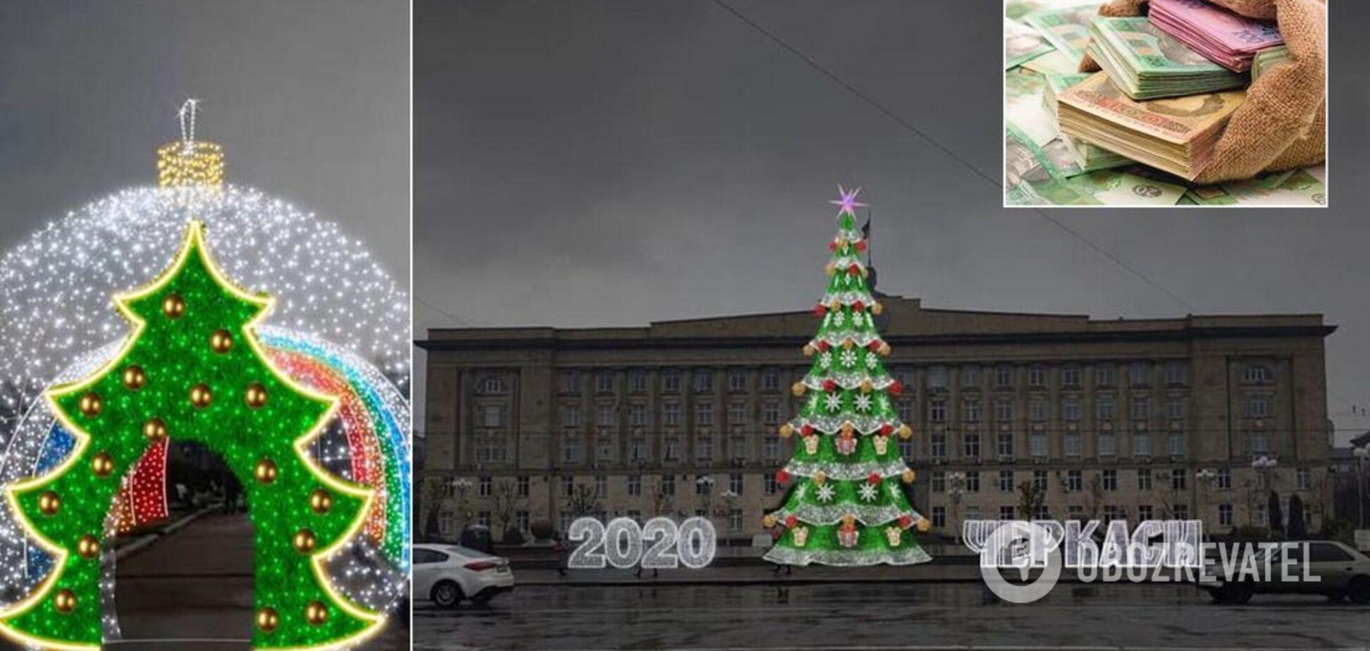 Новый Год на миллионы: в Черкассах планируют потратить фантастическую сумму на городскую елку