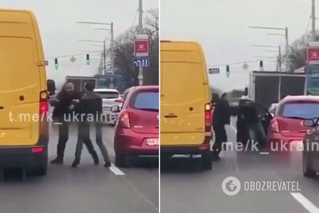 """У Києві водії влаштували """"розбірки"""" посеред дороги"""