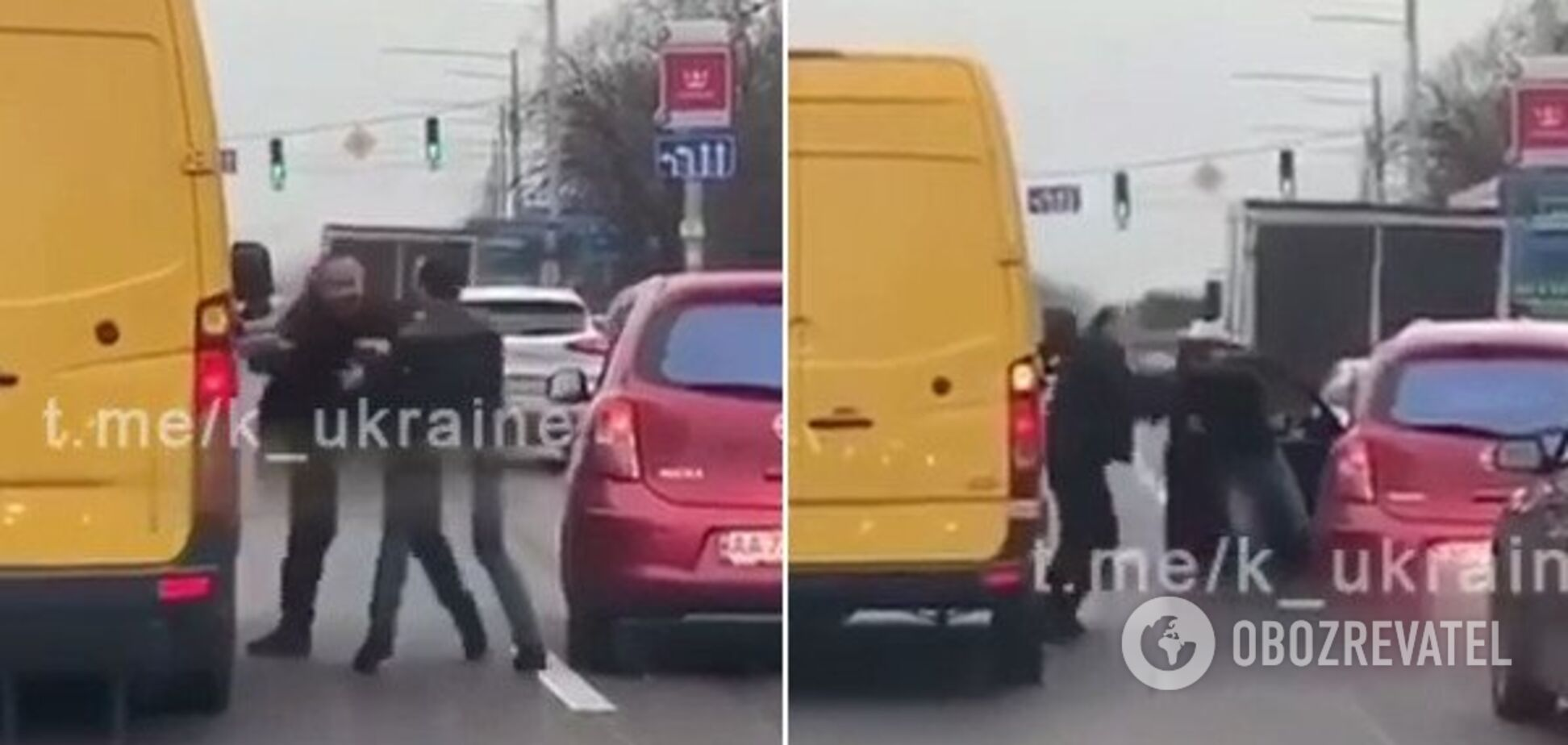 У Києві водії влаштували 'розбірки' посеред дороги