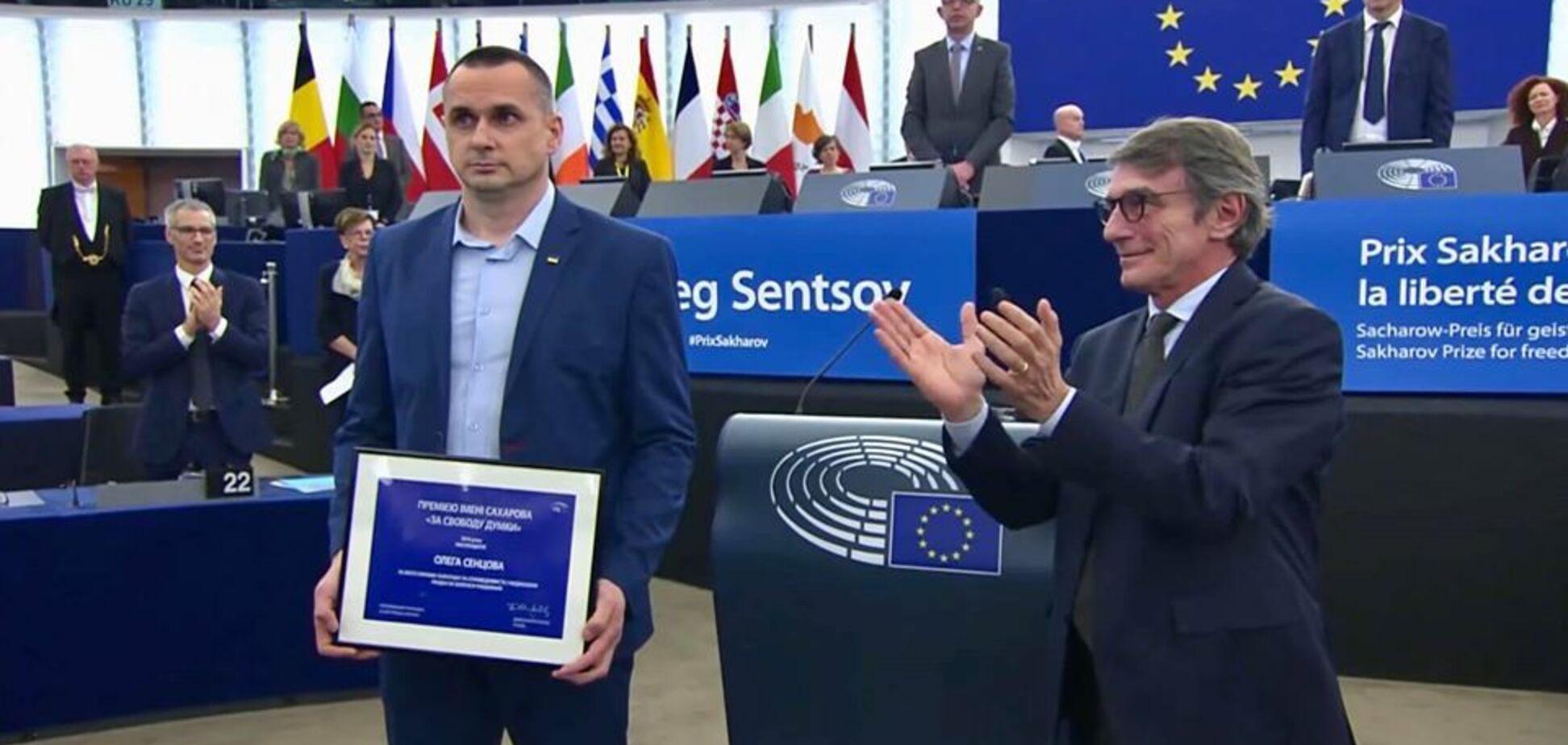 Сенцова отметили высокой наградой в Европарламенте