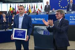 Сенцова відзначили високою нагородою в Європарламенті