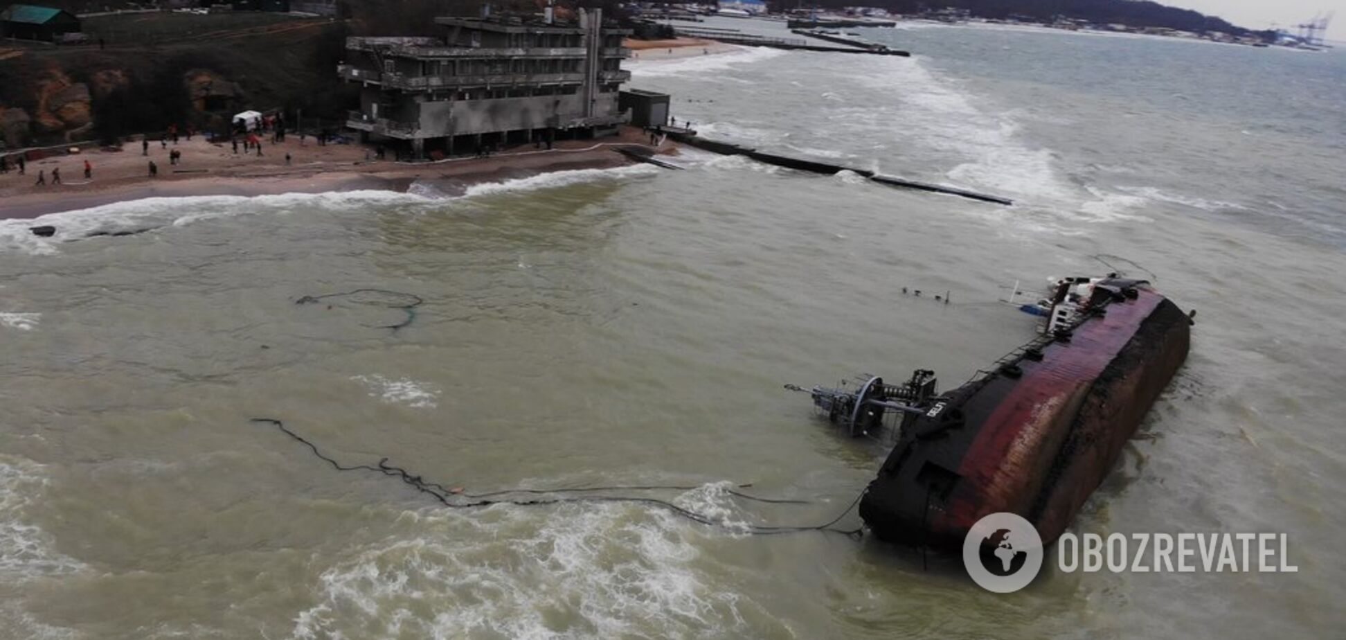 Кораблетроща танкера в Одесі