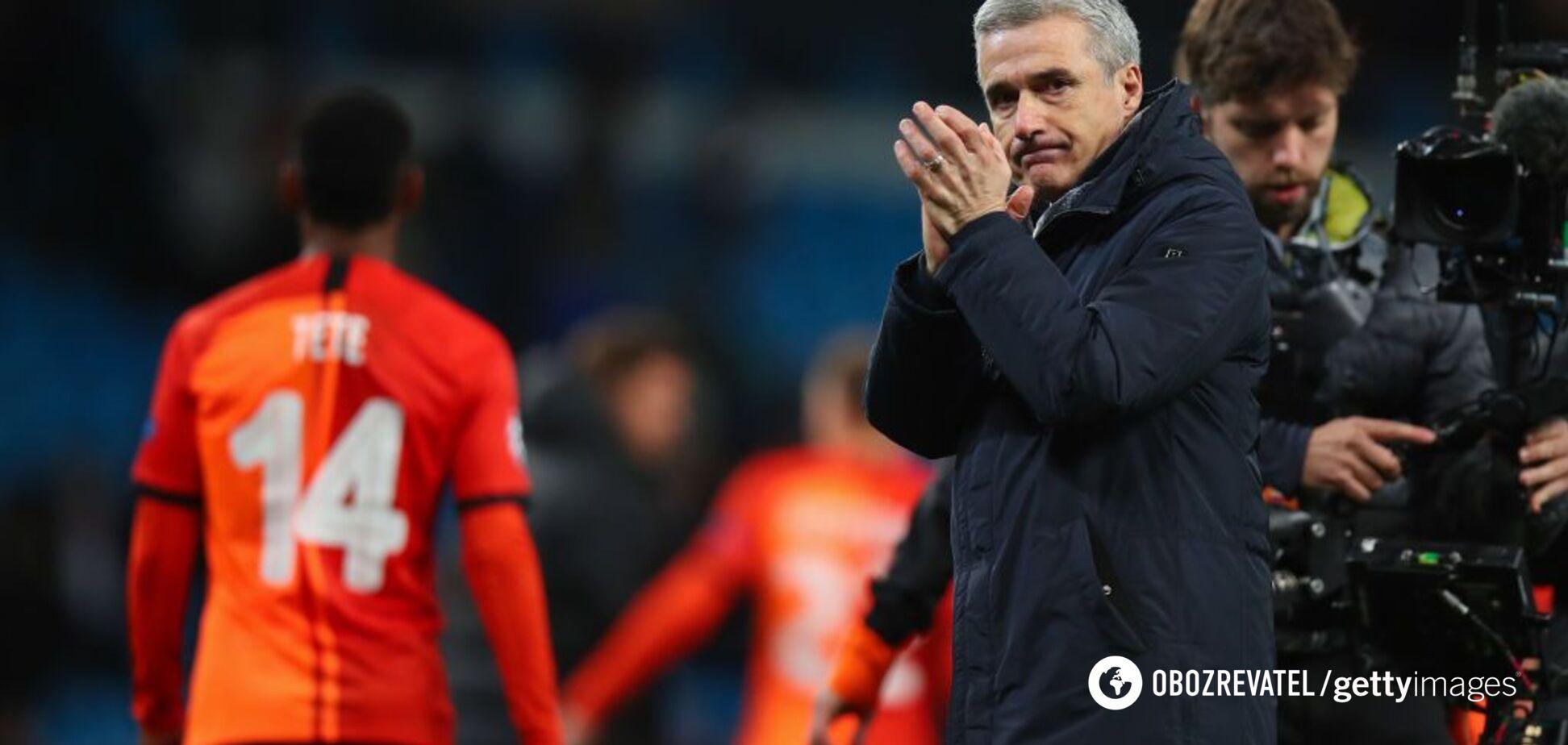 Каштру прокомментировал неожиданный результат 'Шахтера' в матче с 'Манчестер Сити'