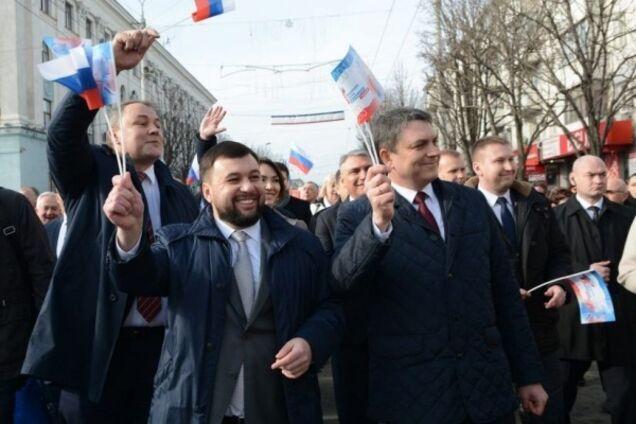 """Ватажки """"Л/ДНР"""" Денис Пушилін і Леонід Пасічник"""