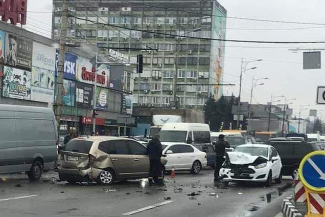 На Слобожанському проспекті трапилася ДТП