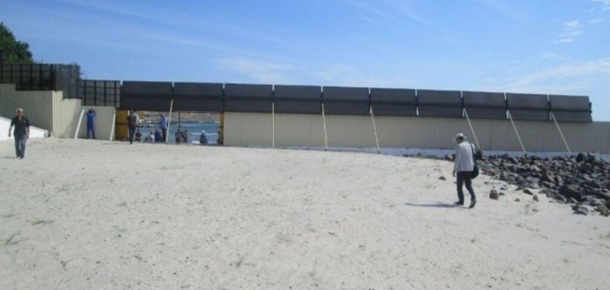 закритий пляж
