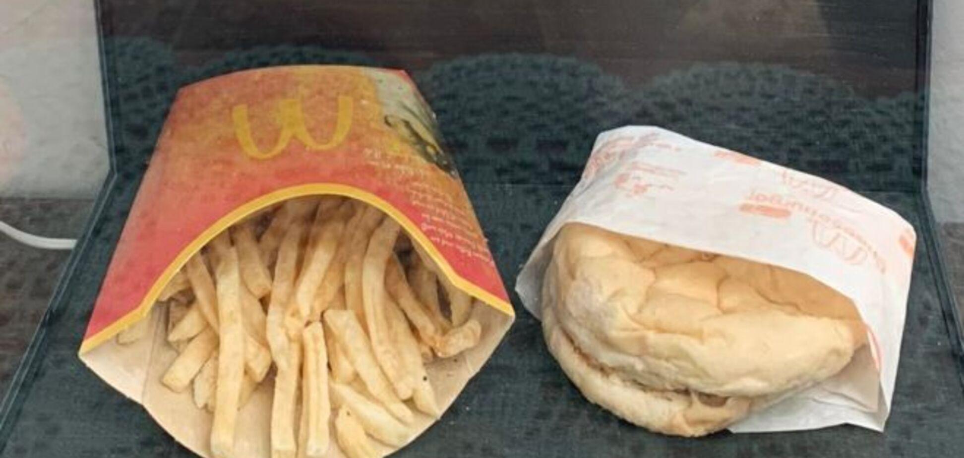 Результаты впечатляют: мужчина 10 лет хранил еду из McDonald's и показал фото