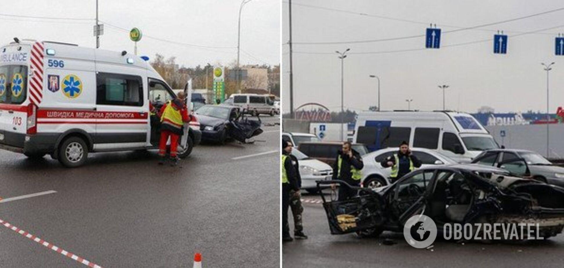 Появилось видео момента смертельного ДТП в Киеве