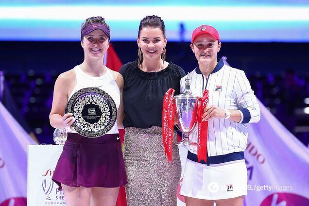 Еліна Світоліна (ліворуч) стала віцечемпіонкою Підсумкового турніру WTA