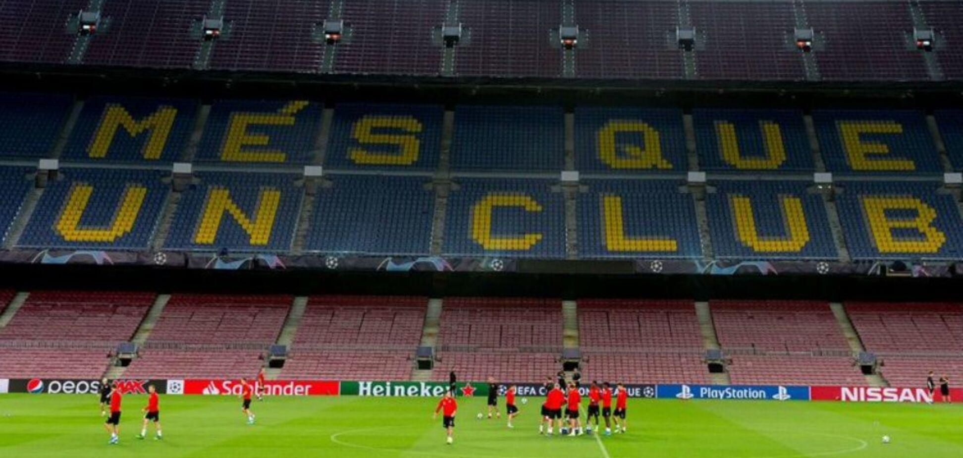 'Никогда не видел': тренера застали 'почти голым' перед матчем с 'Барселоной' в ЛЧ