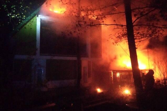 Пожар в ресторане LION в Ривне