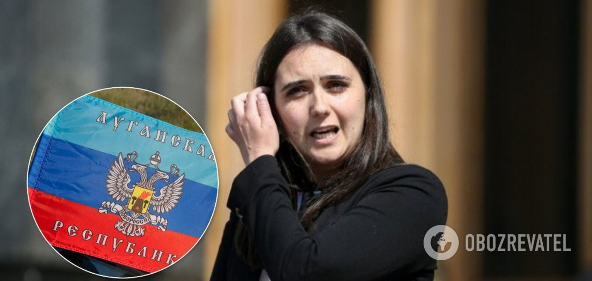 Мендель разозлила украинцев фото с флагами 'ЛНР'