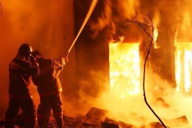 Под Днепром женщина сгорела во сне вместе с домом