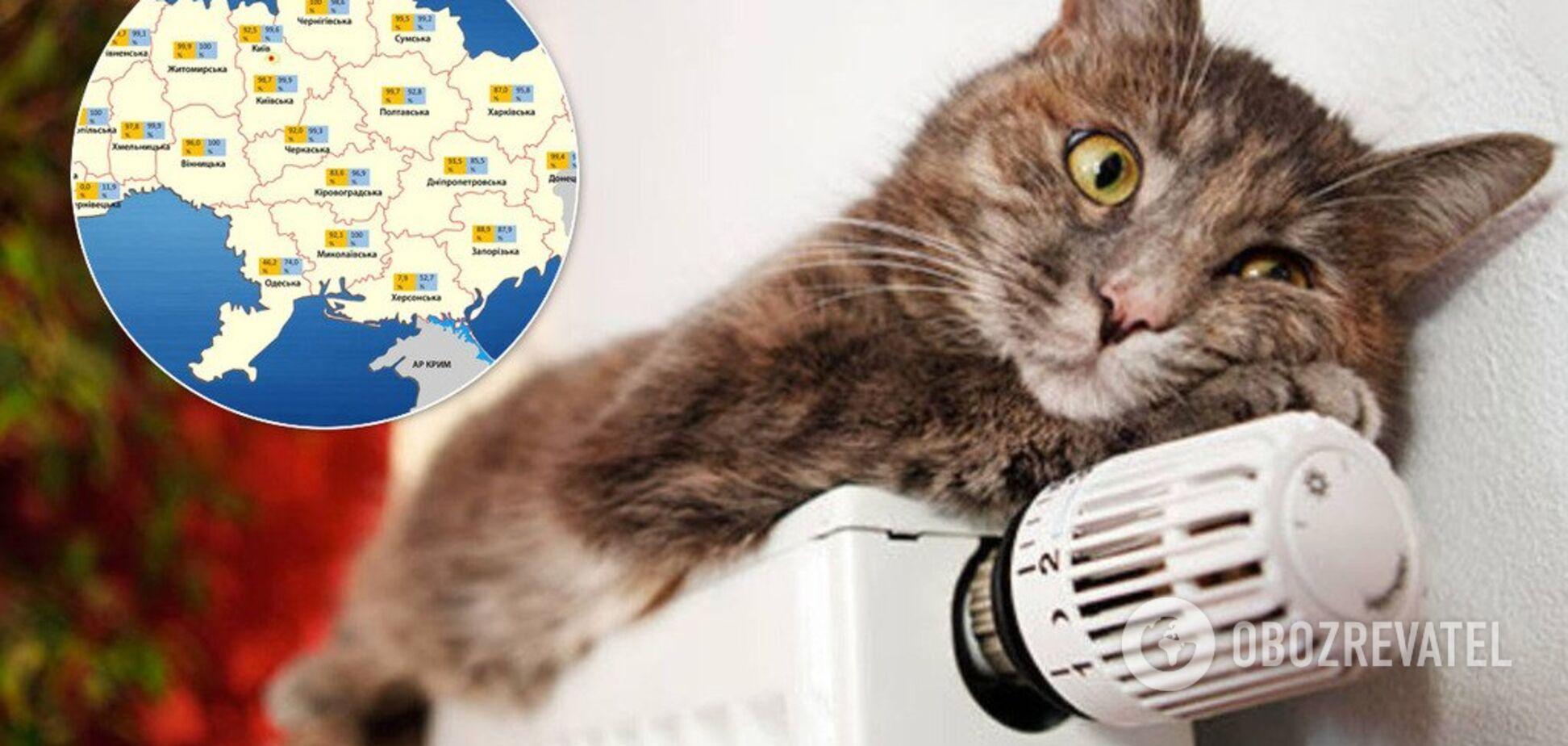 Отопительный сезон: стало известно, в каких областях Украины еще нет тепла