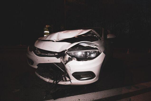 В центре Киева пьяный водитель авто устроил жесткое ДТП