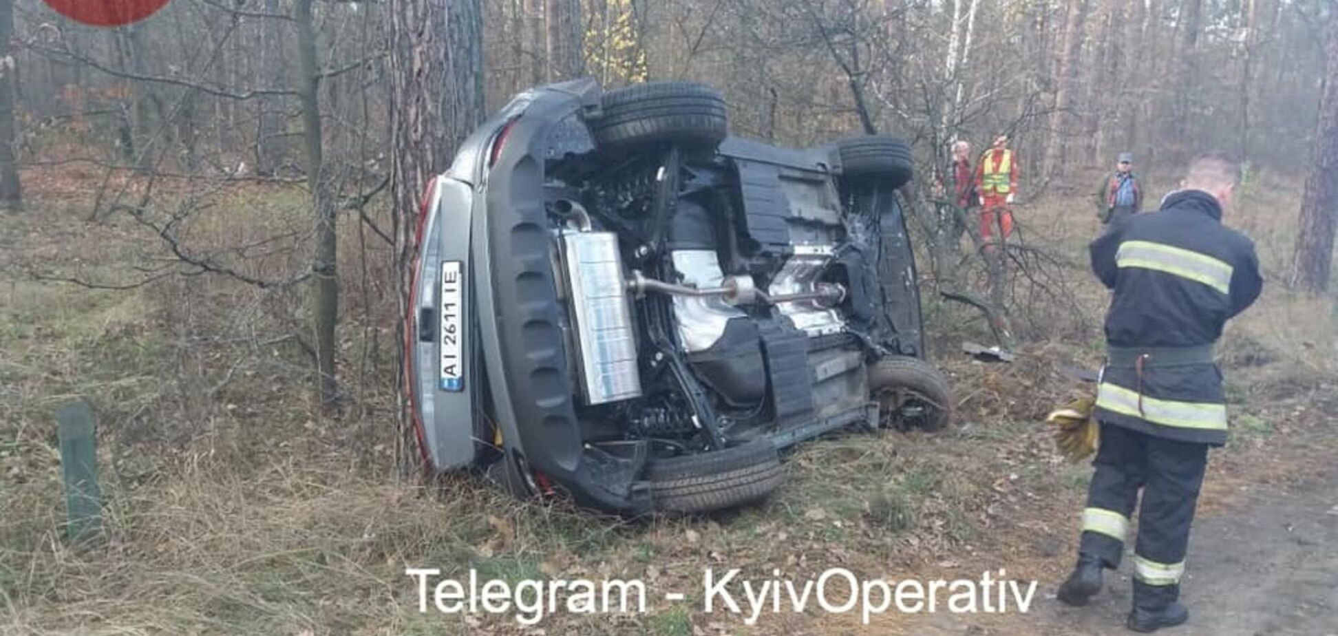 Под Киевом произошло масштабное ДТП с грузовиком