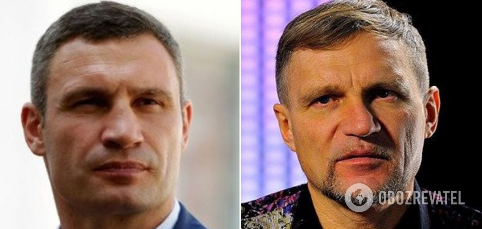 Мер Києва Віталій Кличко та музикант Олег Скрипка