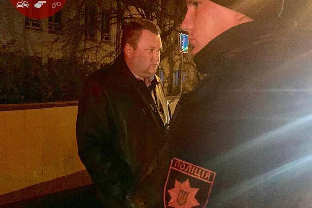 В Киеве одиозный сотрудник ГПУ повздорил с полицией