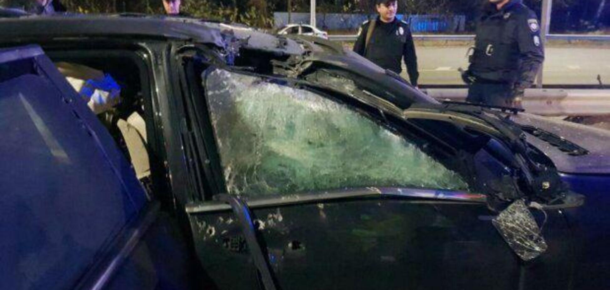 В Киеве взорвали авто бизнесмена: момент попал на видео