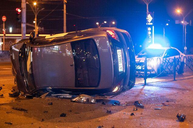 В Киеве такси Bolt попало в жуткое ДТП