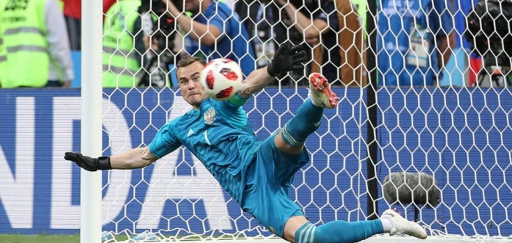 Порятунок дня: воротар збірної Росії повторив легендарний сейв у матчі з командою Реброва