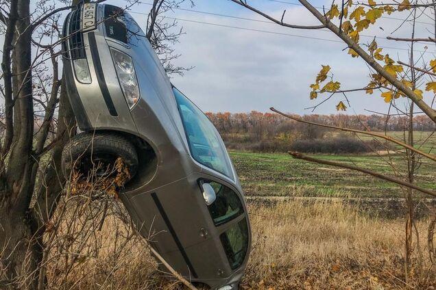 Под Днепром произошло ДТП с переворотом