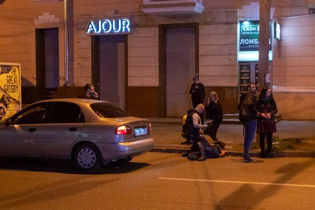 Daewoo Lanos сбил пешехода