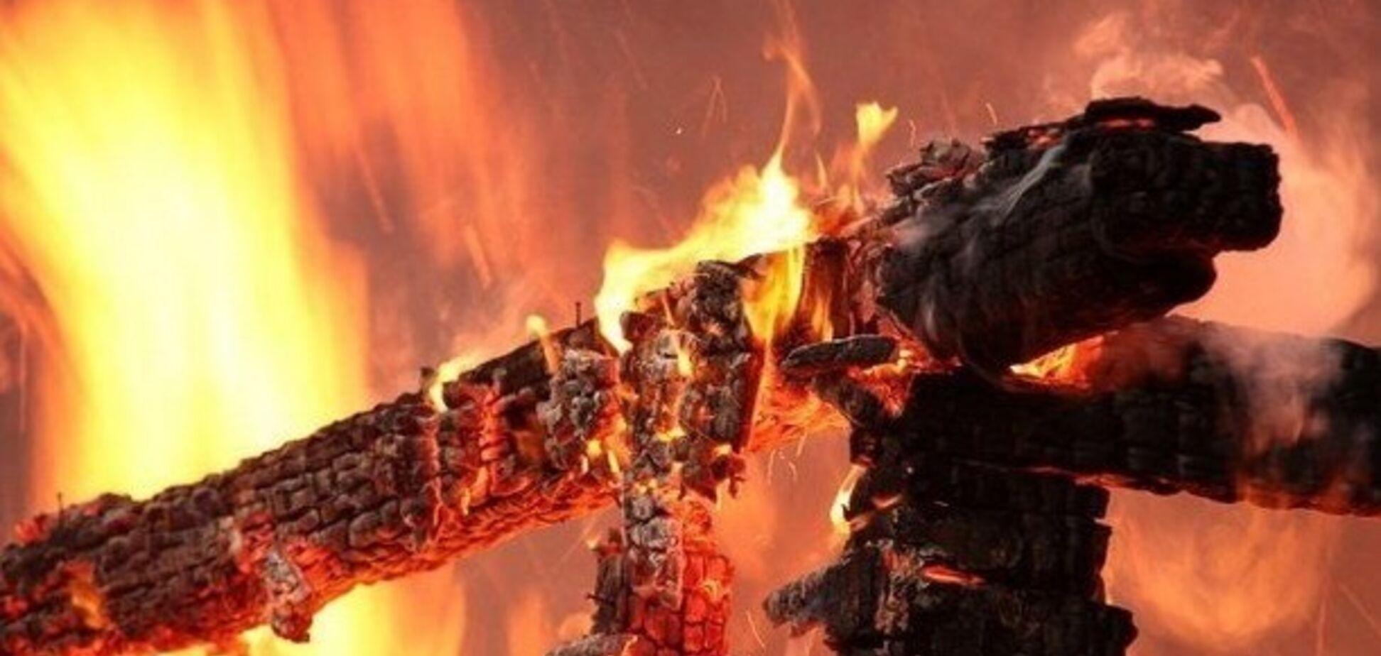 В Кривом Роге сгорел дом: пострадали ребенок и взрослый