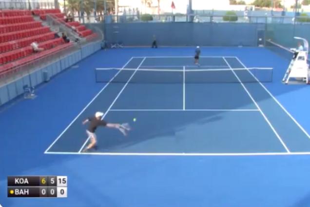 Украинский теннисист не выиграл ни одного очка в матче ITF