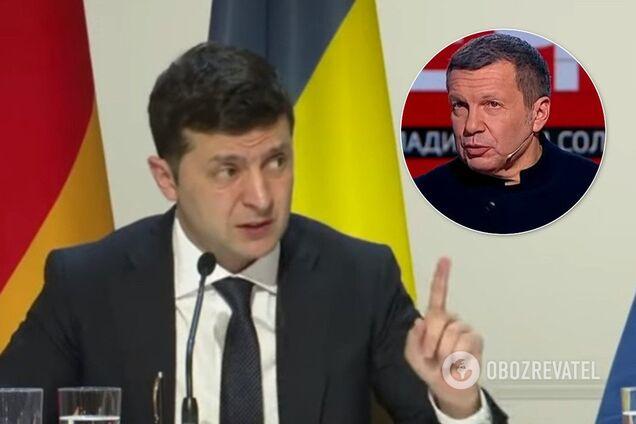 Владимир Зеленский и Владимир Соловьев
