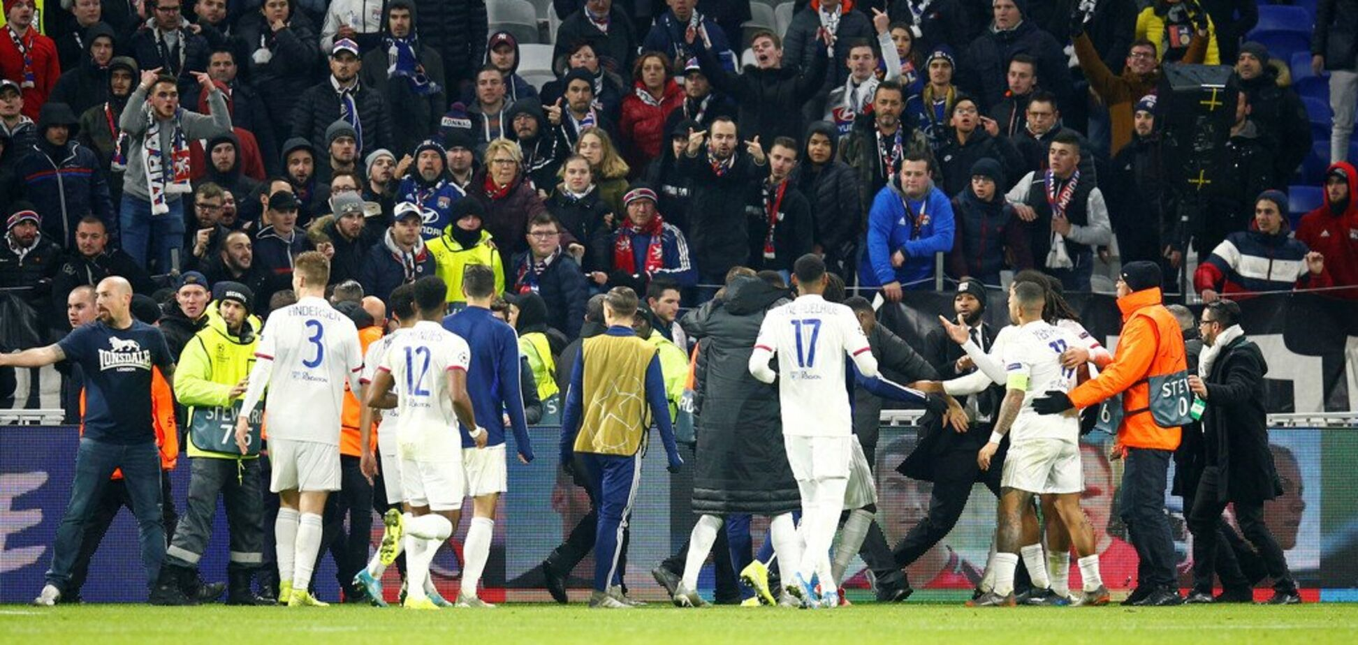 'Ліон' проти вболівальників
