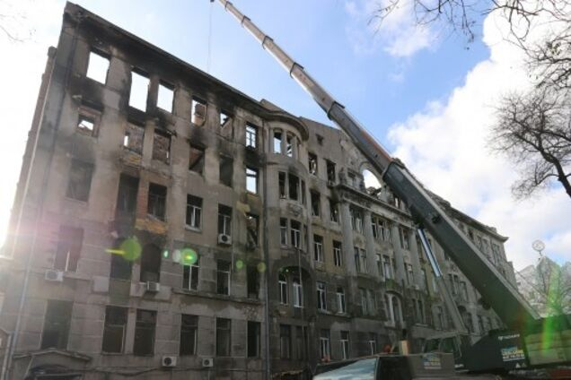 Последствия пожара в Одессе