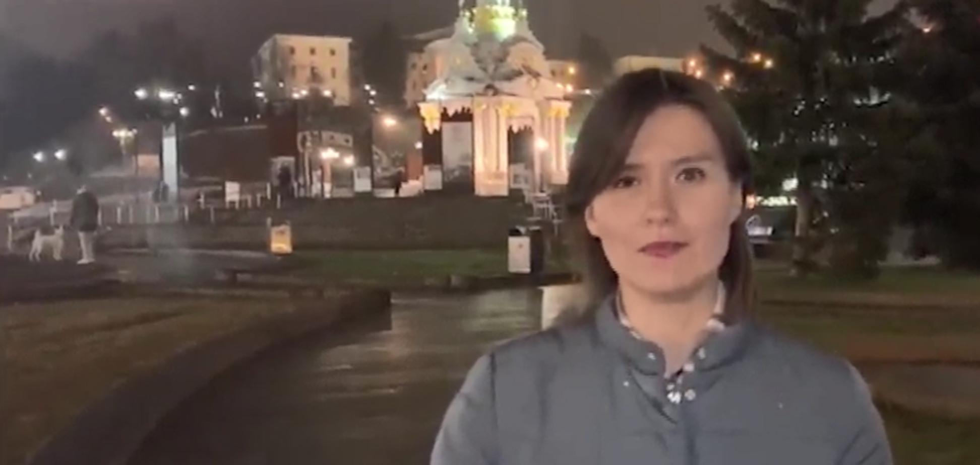 Пропагандистка Звезды зняла сюжет на Майдані
