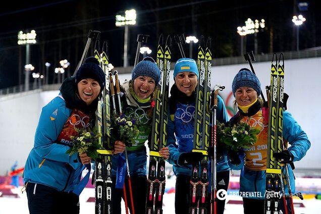 Кубок мира по биатлону: Украина едва не выиграла медаль в женской эстафете