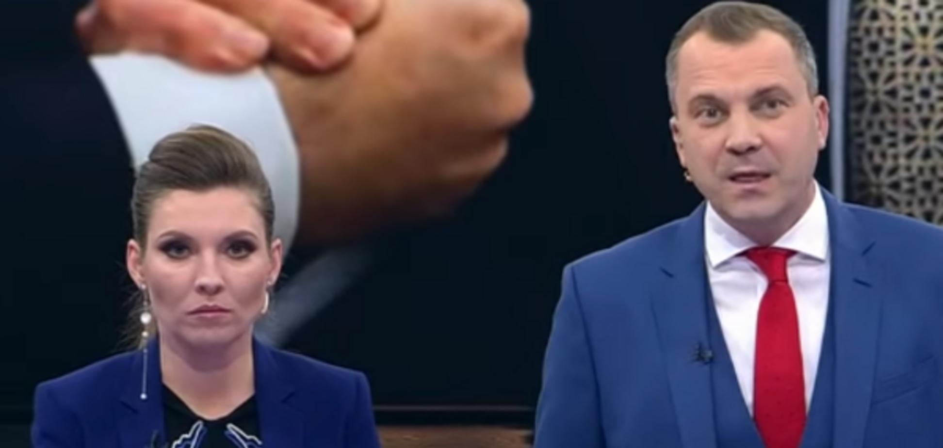 'Хто гавкає? Геть!' Пропагандист Путіна вийшов з себе в прямому ефірі: відео