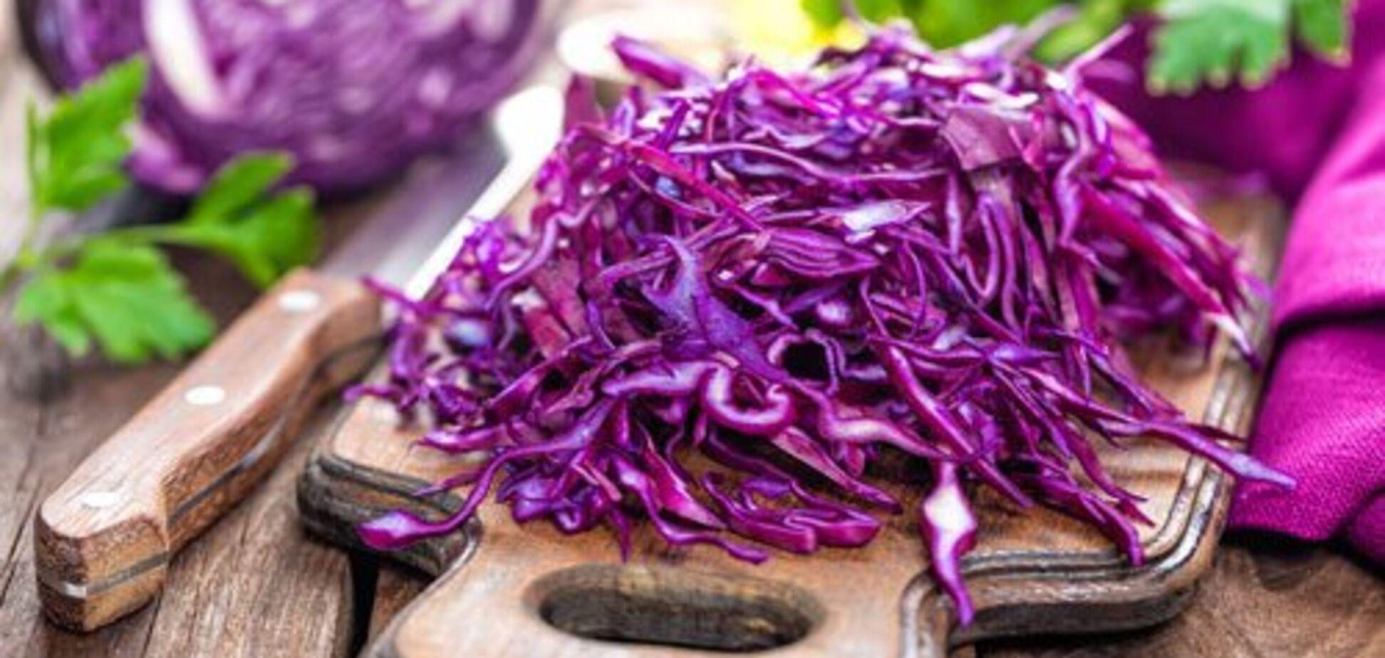 Рецепт казково смачного салату з червоної капусти