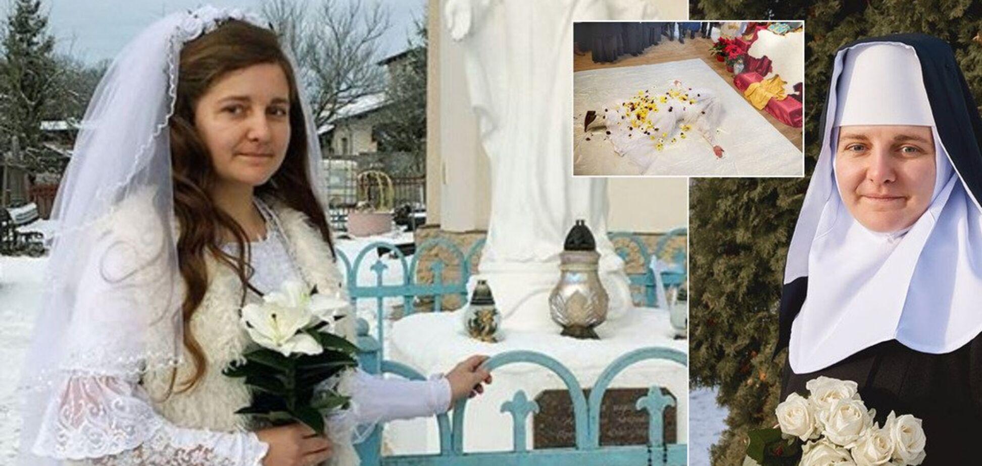 'Вийшла заміж' за Ісуса Христа: фото посвяти в черниці вразили українців